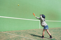 Children practicing tennis Stock photo [5049362] tennis