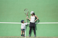 Parents who practice tennis Stock photo [5051131] tennis