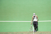 A woman practicing tennis Stock photo [5051132] tennis