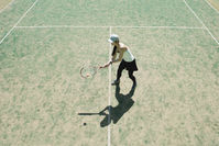 A woman practicing tennis Stock photo [5051135] tennis