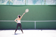 A woman practicing tennis Stock photo [5051137] tennis