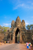 Cambodia, Angkor Wat ruins (Angkor ? Tom's gate) Stock photo [5055076] Cambodia