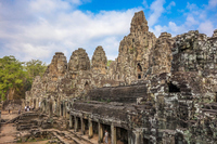 Cambodia, Angkor Wat ruins (Bayon temple in Angkor ? Tom) Stock photo [5055081] Cambodia