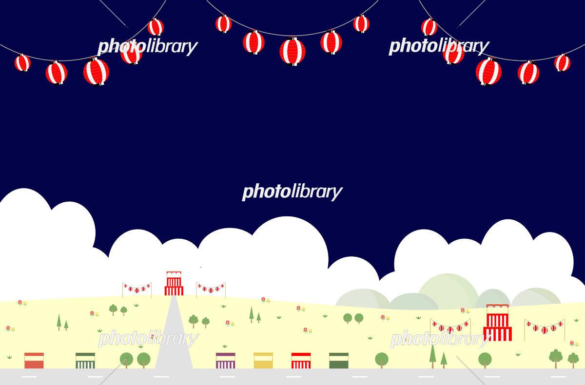 お祭り 風景 イラスト素材 5141979 フォトライブラリー Photolibrary