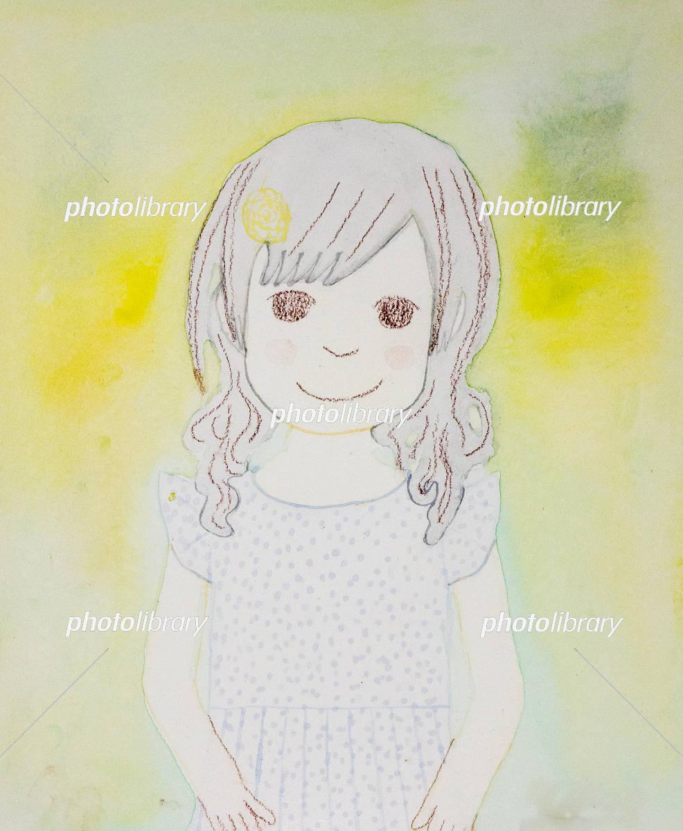 可愛い 女の子 イラスト素材 5144181 フォトライブラリー Photolibrary