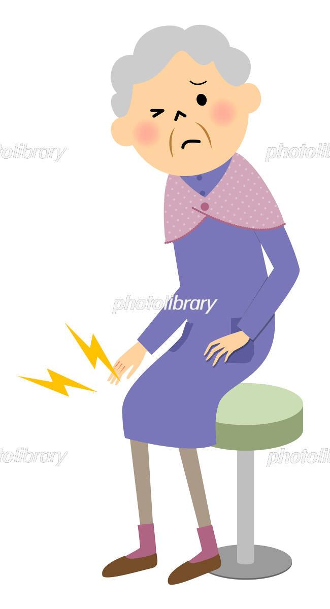 シニア女性 膝痛 イラスト素材 5145288 フォトライブラリー