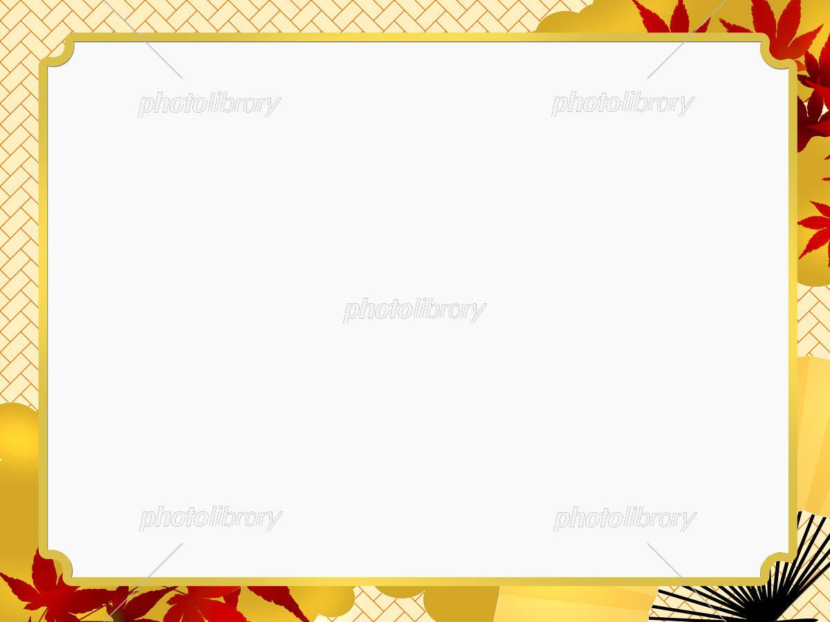 和風フレーム フレーム 和柄フレーム イラスト素材 [ 5229457 ] - フォト