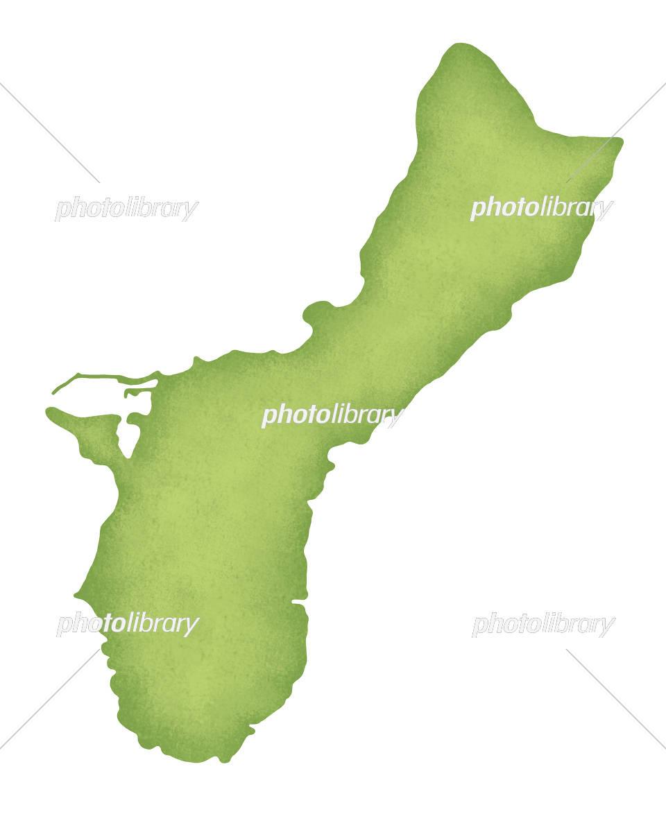 グアムの地図 イラスト素材 [ 5230234 ] , フォトライブラリー