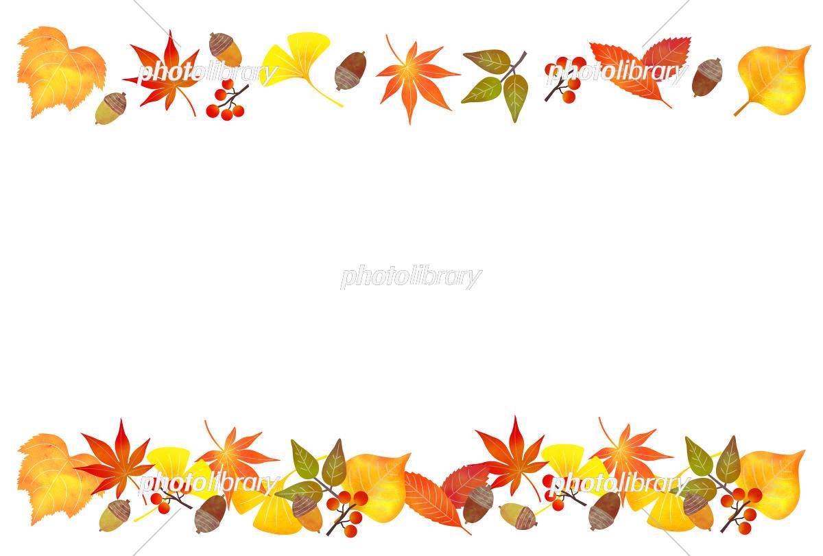 落ち葉 装飾ライン イラスト素材 5236673 フォトライブラリー