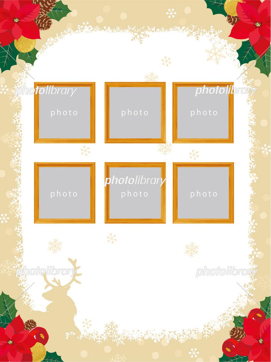 クリスマスケーキ チラシテンプレート イラスト素材 [ 5238176