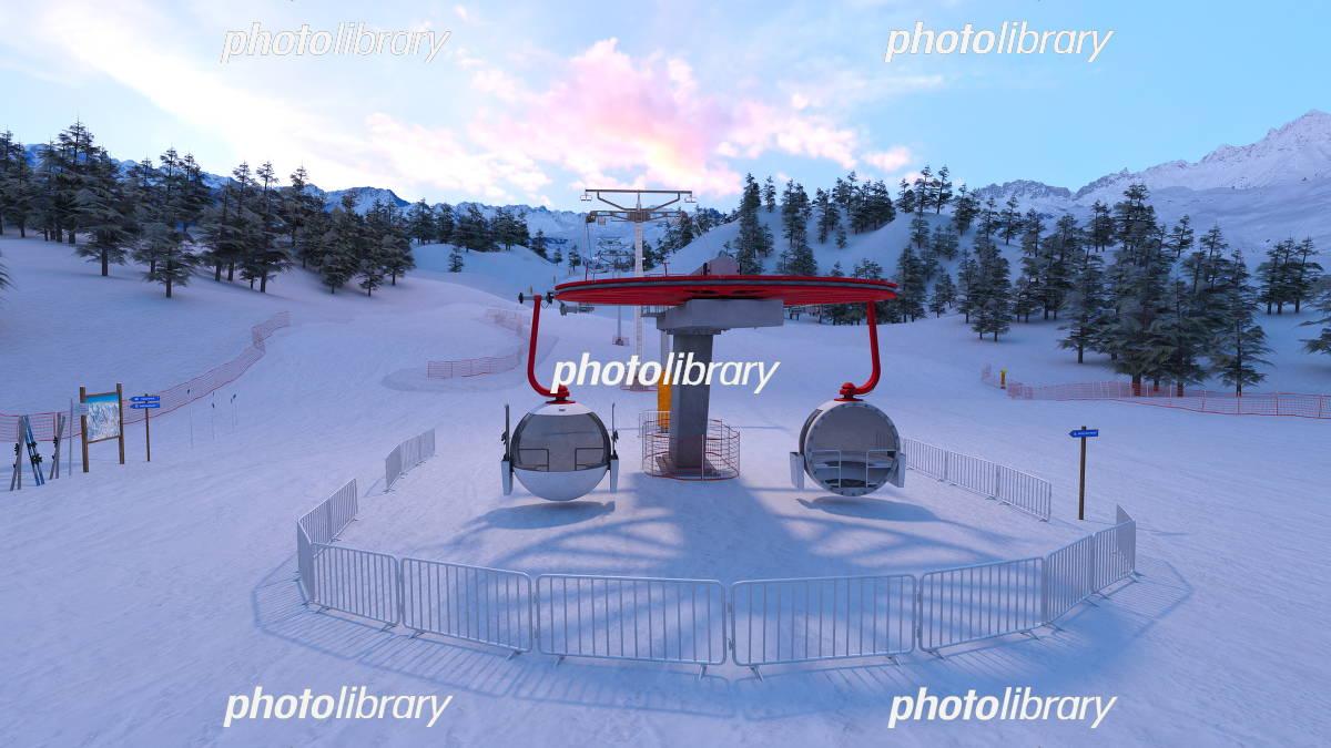 ゲレンデ イラスト素材 5239359 フォトライブラリー Photolibrary