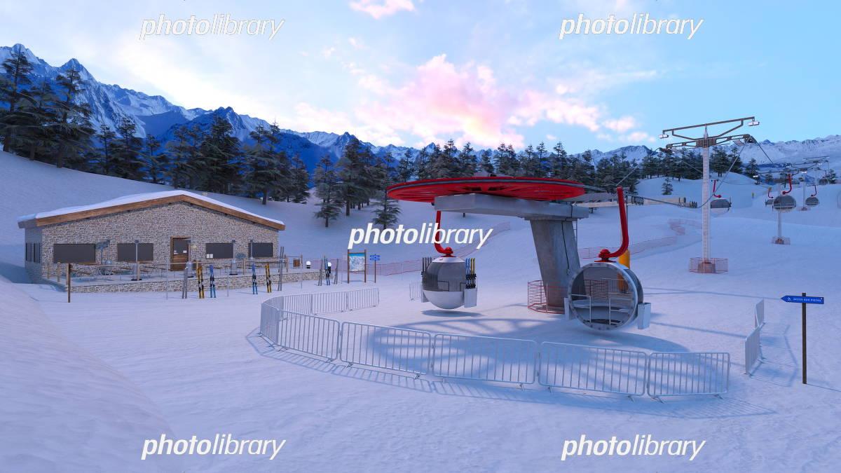 ゲレンデ イラスト素材 5239361 フォトライブラリー Photolibrary