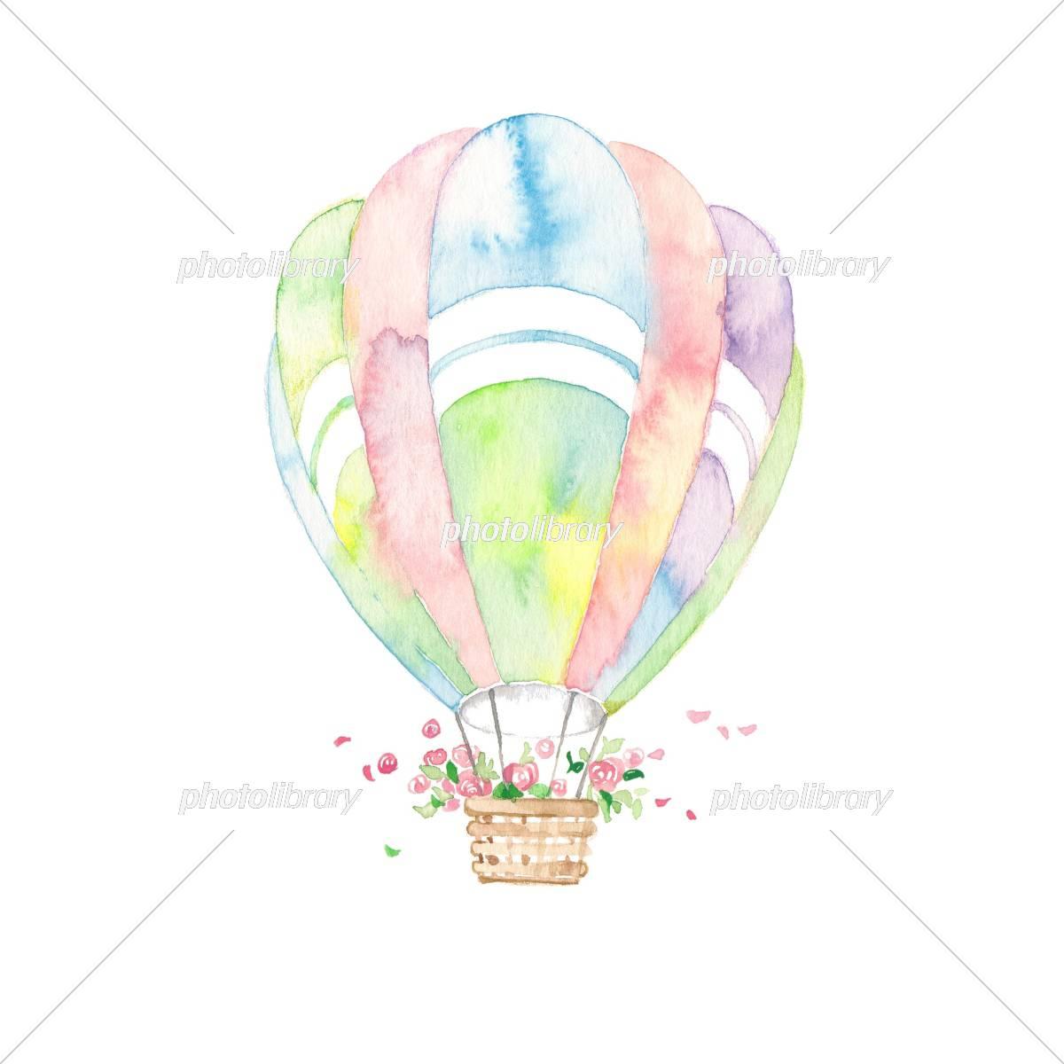 七色気球 花かご イラスト素材 5325257 フォトライブラリー