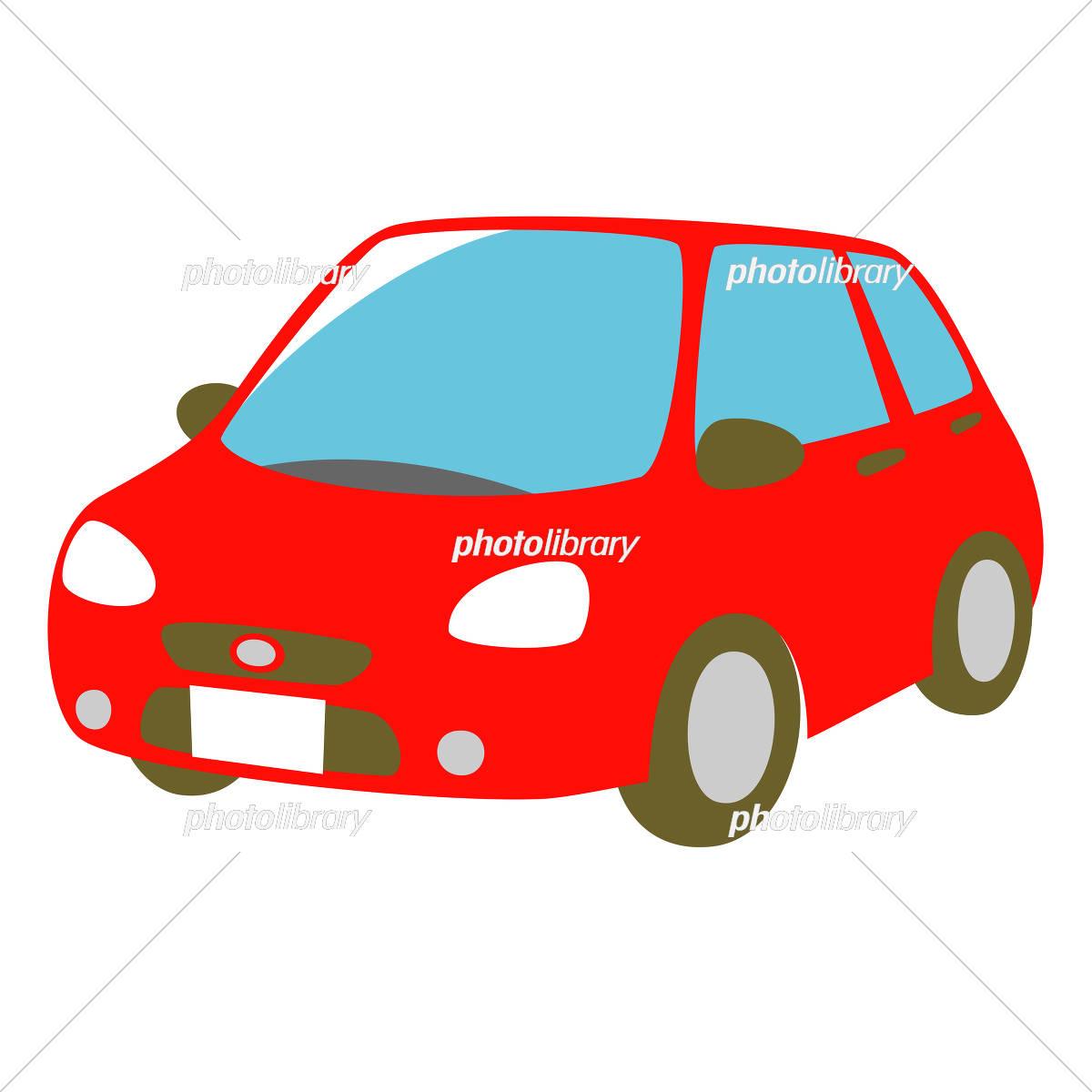 赤い車 斜め前面 イラスト素材 [ 5327184 ] - フォトライブラリー