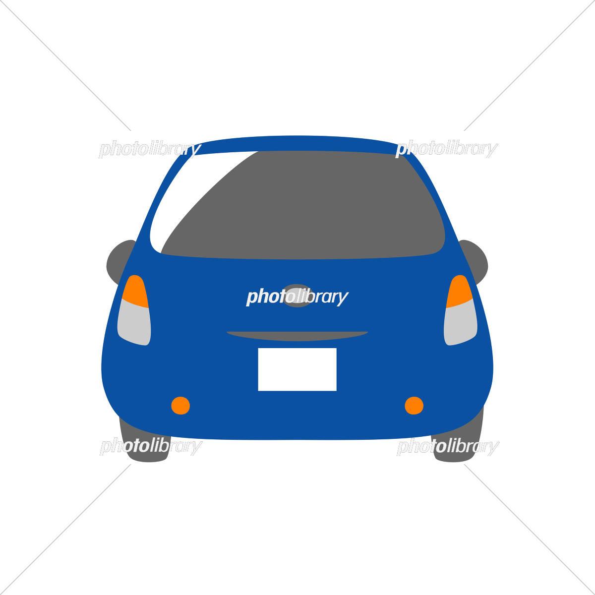 青い車 背面 イラスト素材 [ 5327195 ] - フォトライブラリー photolibrary