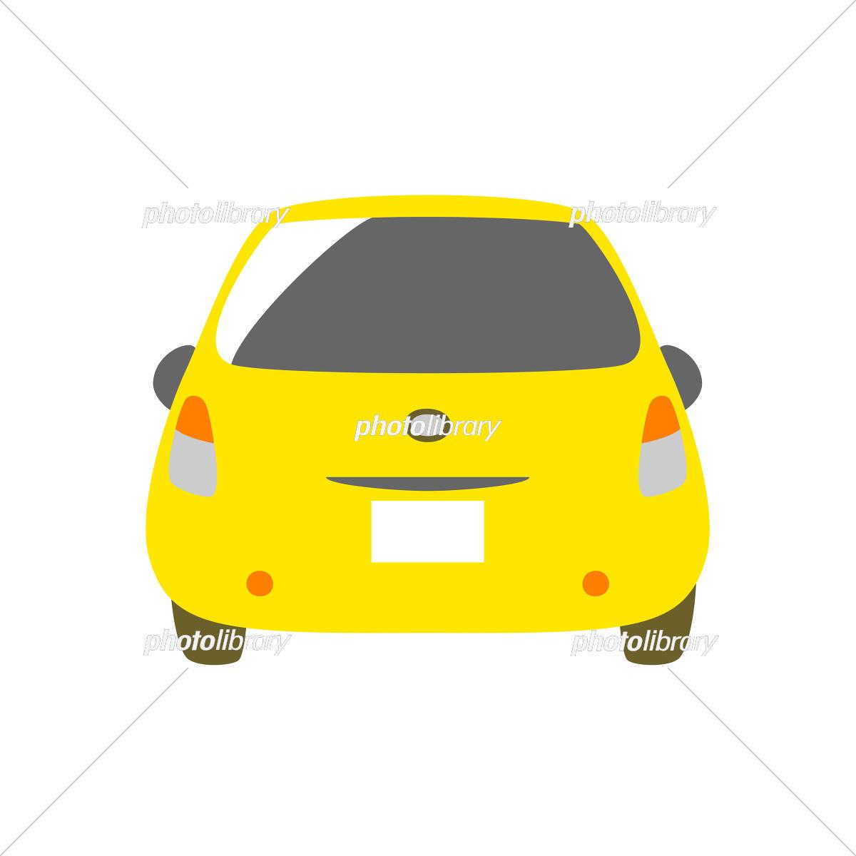 黄色の車 背面 イラスト素材 [ 5327205 ] - フォトライブラリー photolibrary