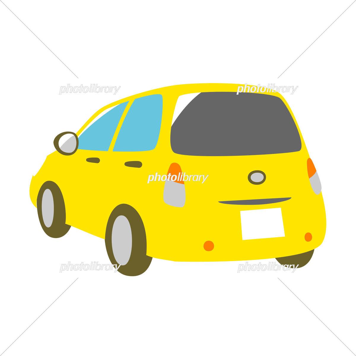 黄色の車 斜め背面 イラスト素材 [ 5327206 ] - フォトライブラリー