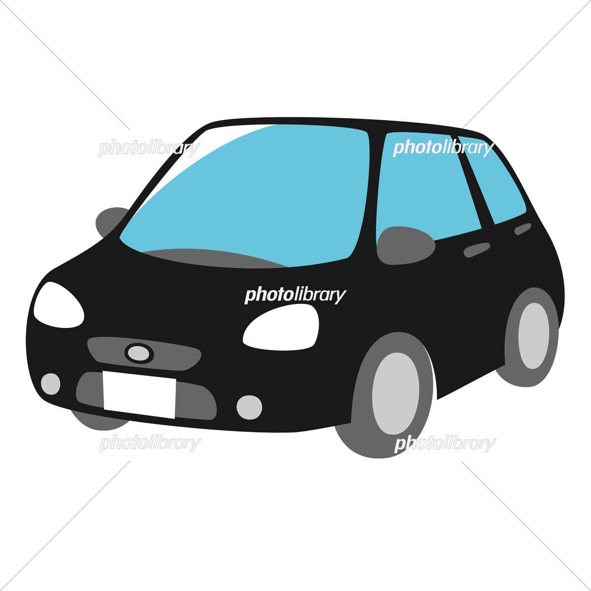 黒い車 斜め前面 イラスト素材 [ 5327210 ] - フォトライブラリー