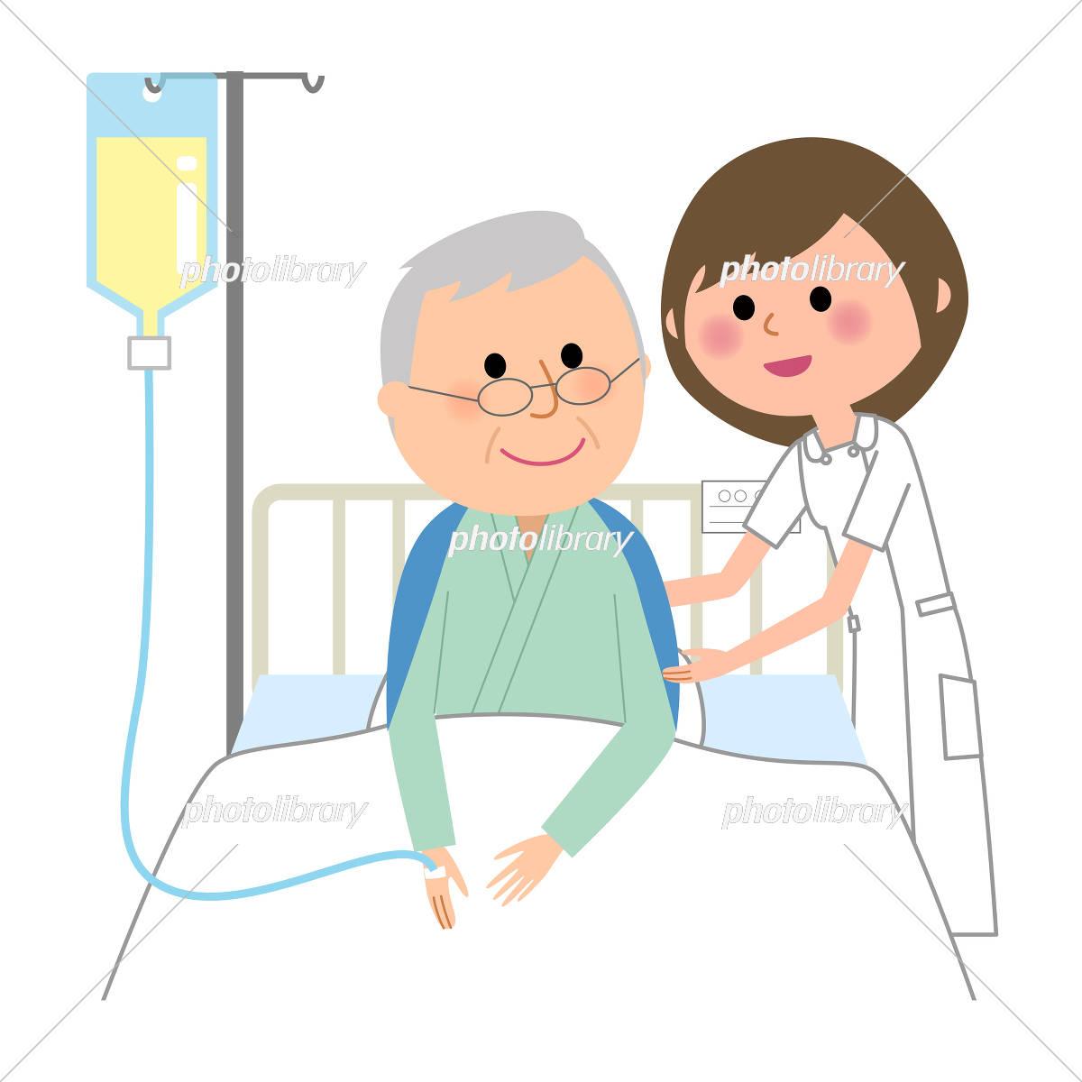 看護師 入院患者 イラスト素材 5327338 フォトライブラリー