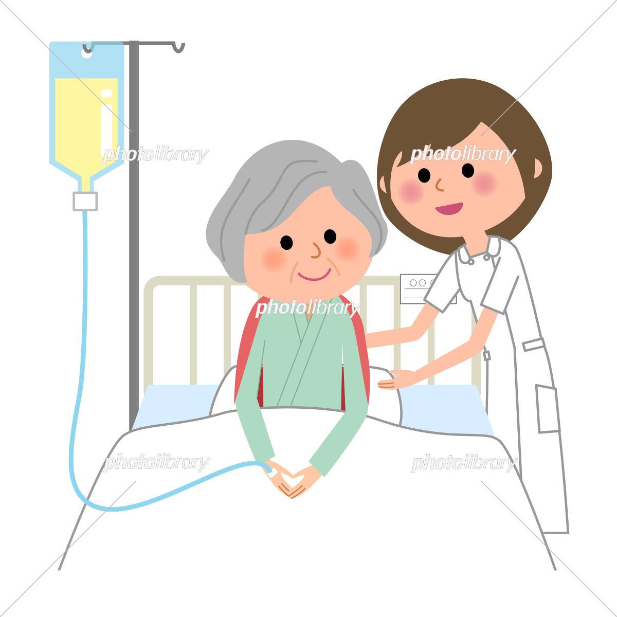 看護師 入院患者 イラスト素材 5327339 フォトライブラリー