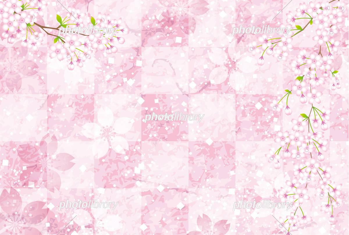 桜 さくら 背景 素材 イラスト素材 [ 5327584 ] - フォトライブラリー