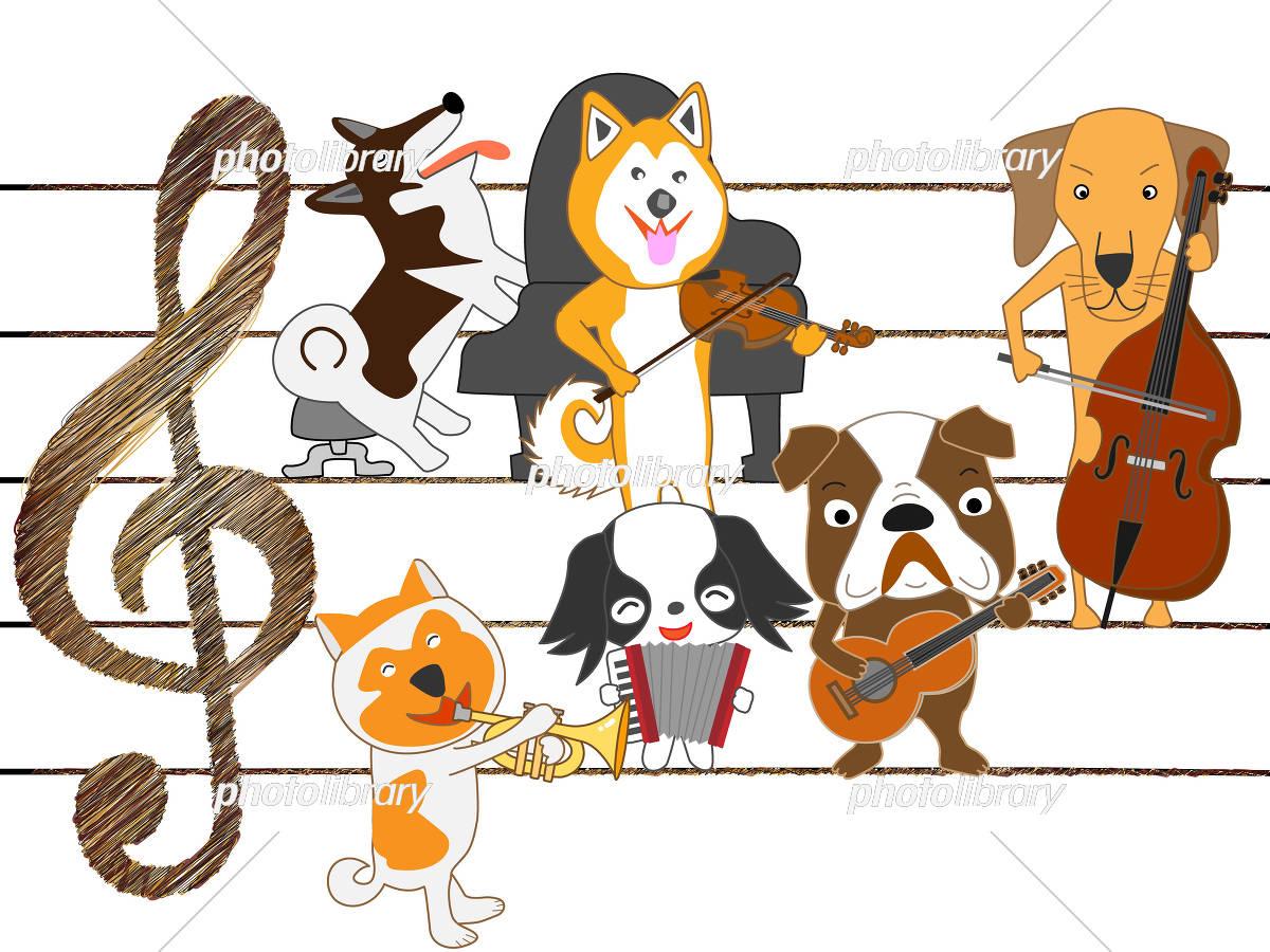 犬のコンサート イラスト素材 5327858 フォトライブラリー