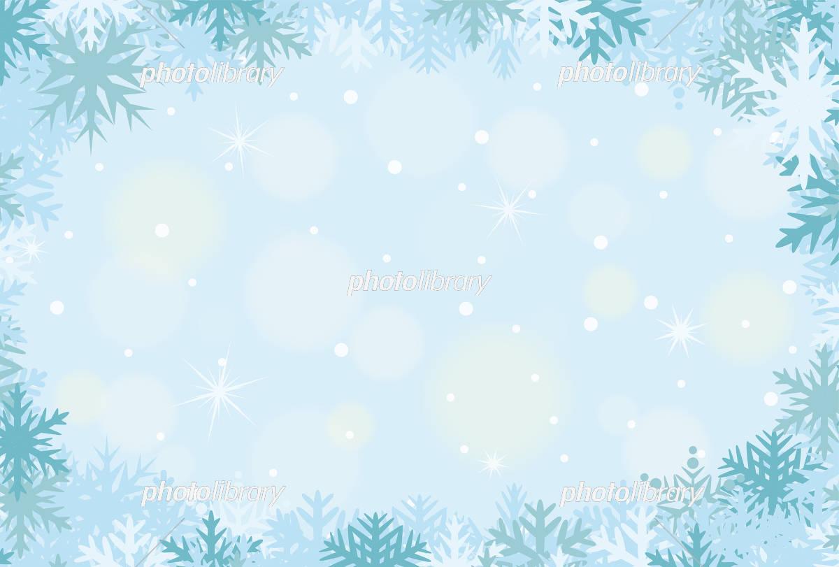 雪の結晶のフレーム素材 イラスト素材 5328710 フォトライブラリー