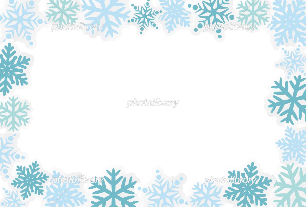 雪の結晶のフレーム素材 イラスト素材 5328718 フォトライブラリー