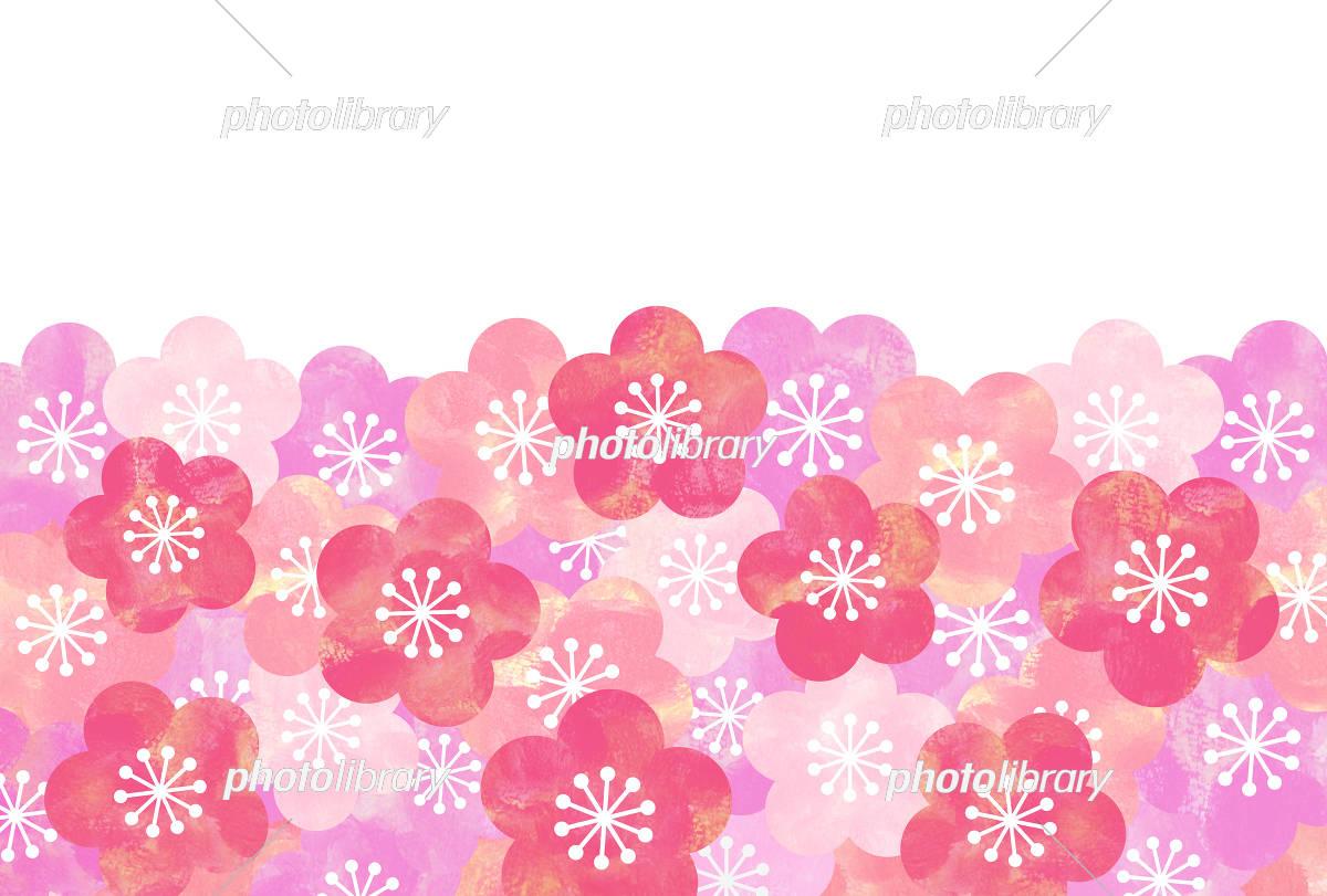梅の花 背景 イラスト素材 [ 5333000 ] - フォトライブラリー photolibrary