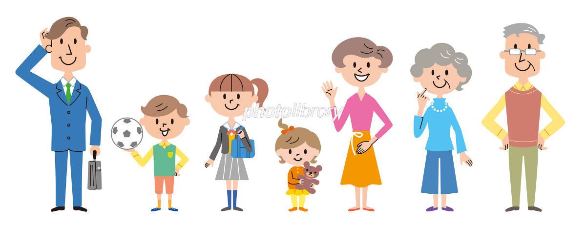 三世代家族 イラスト イラスト素材 5334767 フォトライブラリー