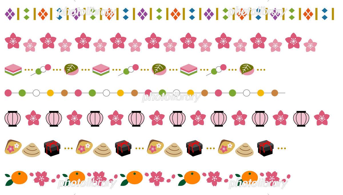 ひな祭りの飾り線 イラスト素材 5396804 フォトライブラリー