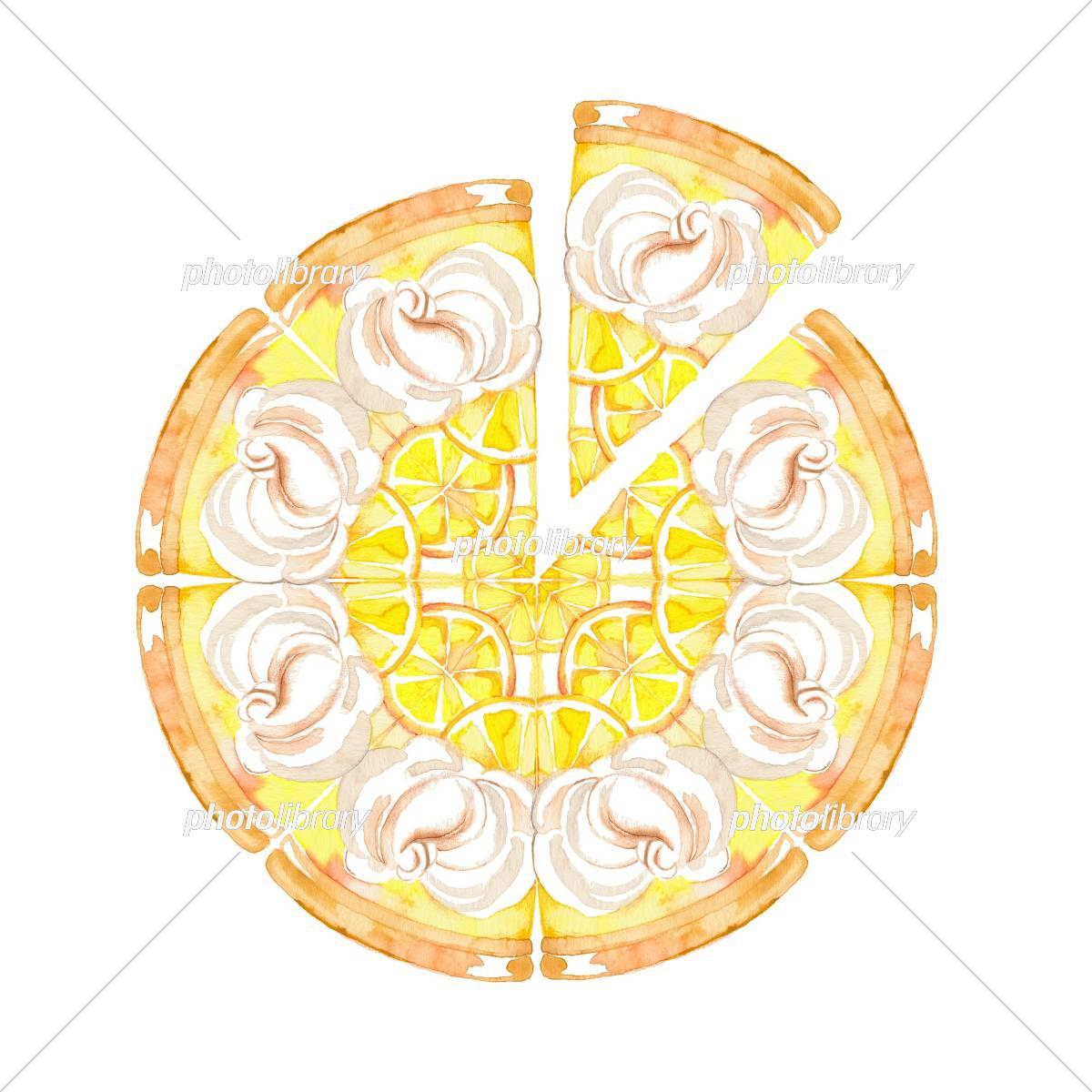 ケーキ ホール レモン イラスト素材 [ 5397778 ] - フォトライブラリー
