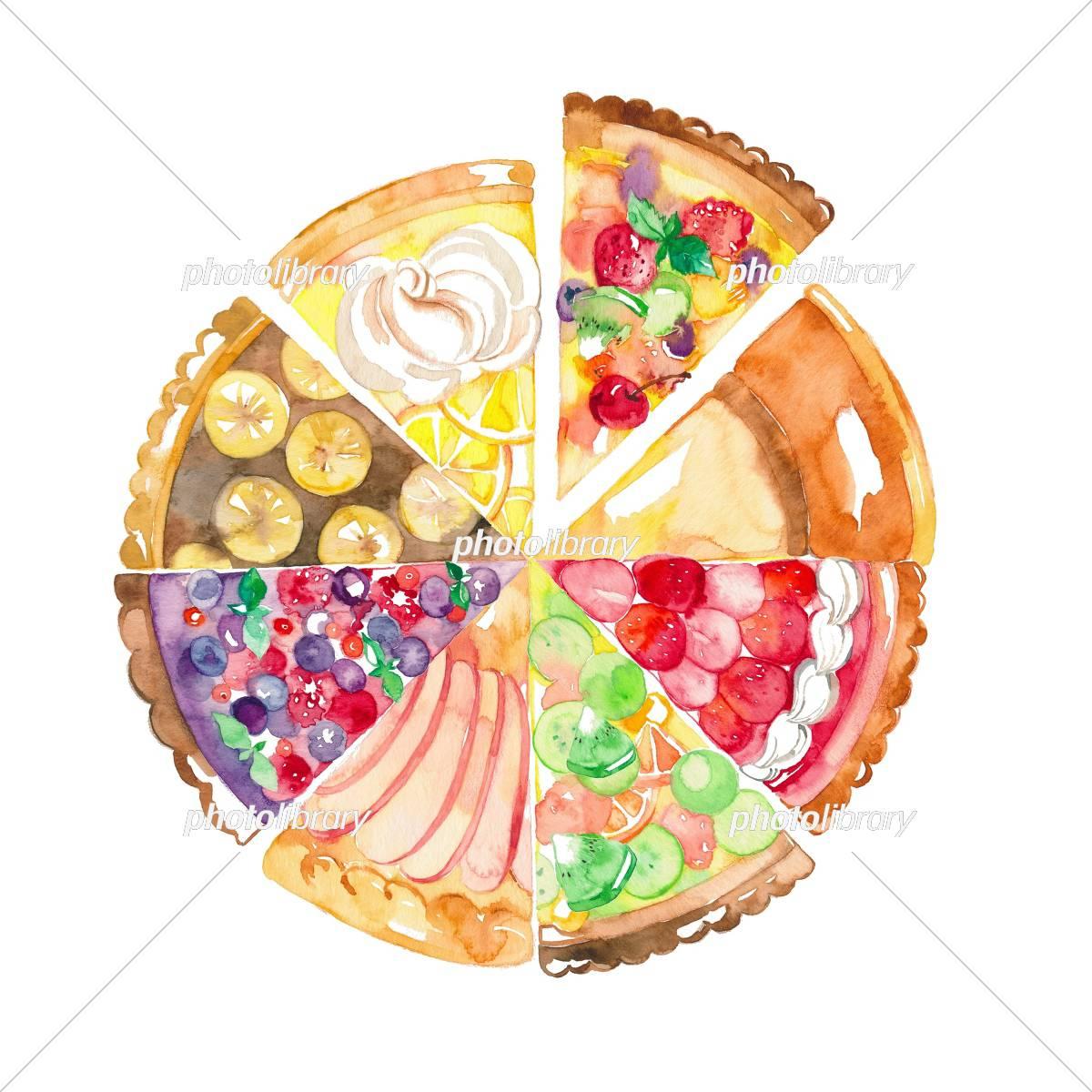 ケーキ ホール 8種 イラスト素材 [ 5397780 ] - フォトライブラリー