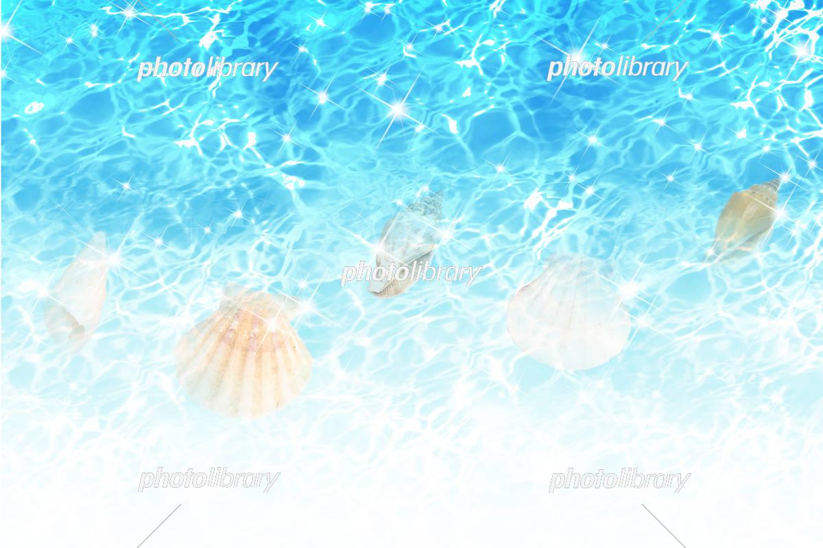 夏のブルーのイメージ 貝殻 イラスト素材 フォトライブラリー Photolibrary