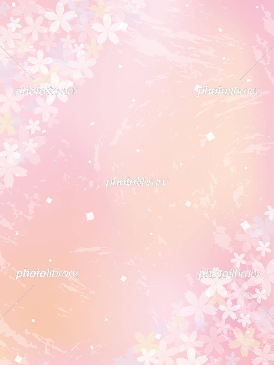 桜の背景素材 イラスト素材 [ 5445390 ] - フォトライブラリー