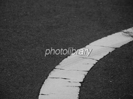 白線とアスファルト 写真素材 [ ...