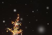 Snowing Illuminated tree Stock photo [202687] Night