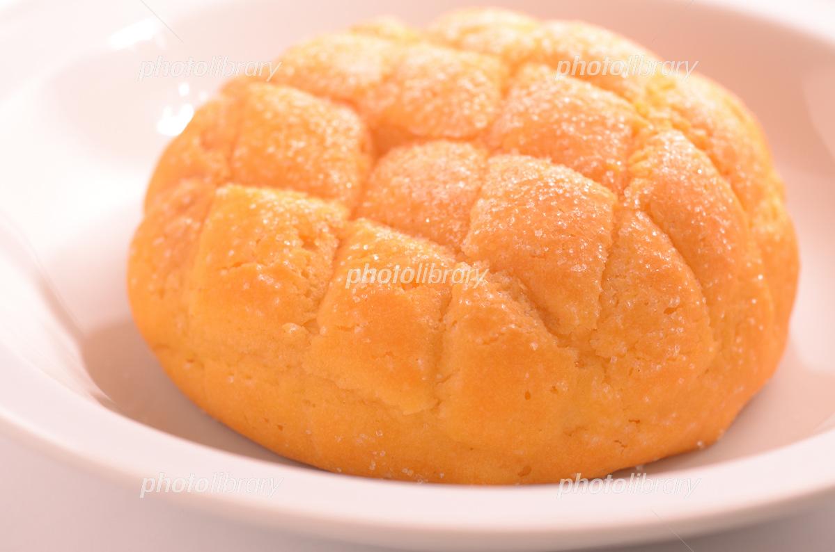 夕張メロン風メロンパン 写真素材