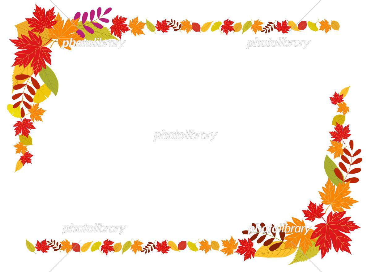秋の紅葉フレーム イラスト素材 フォトライブラリー Photolibrary