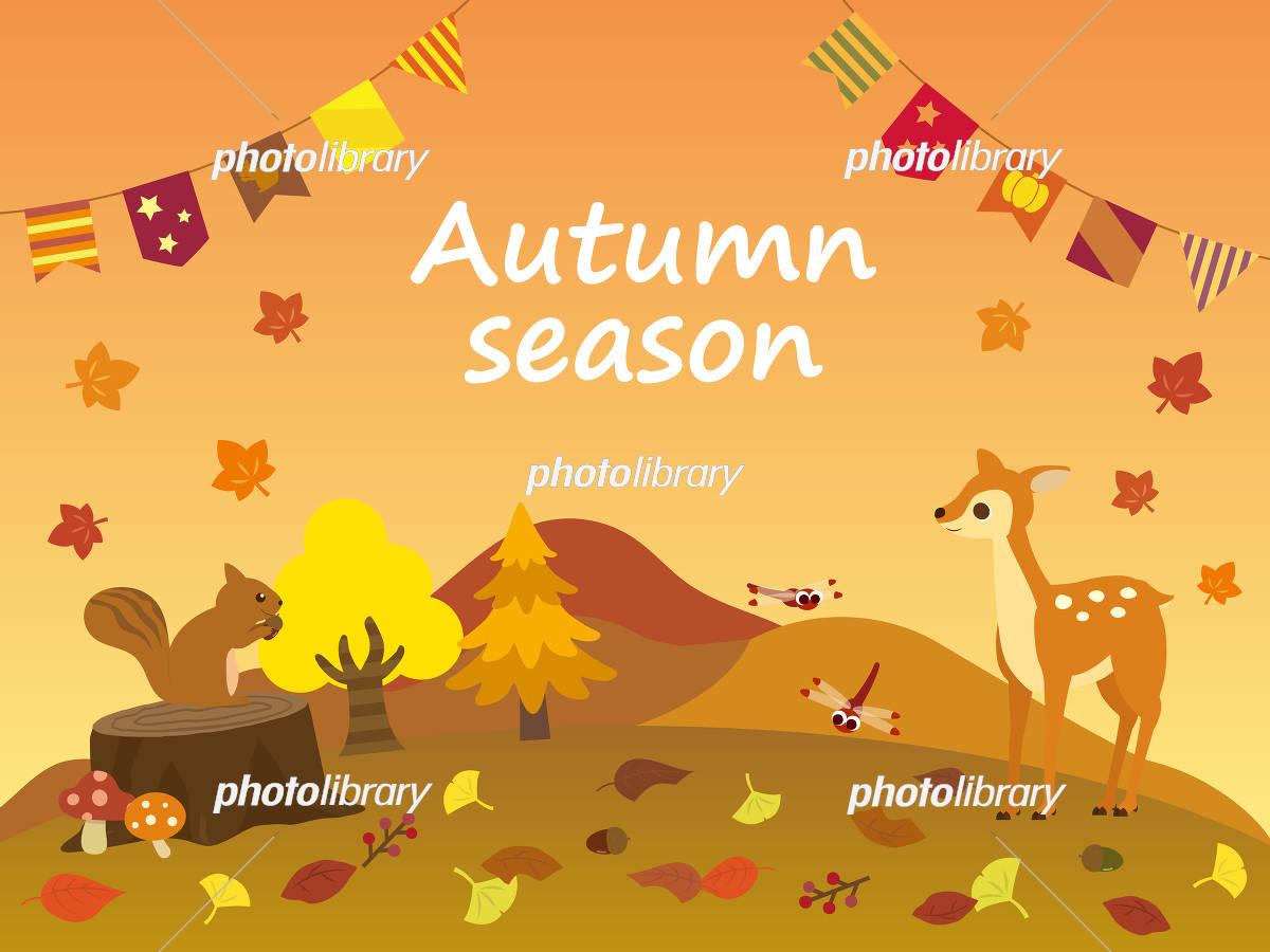 秋の風景壁紙 イラスト素材 フォトライブラリー Photolibrary