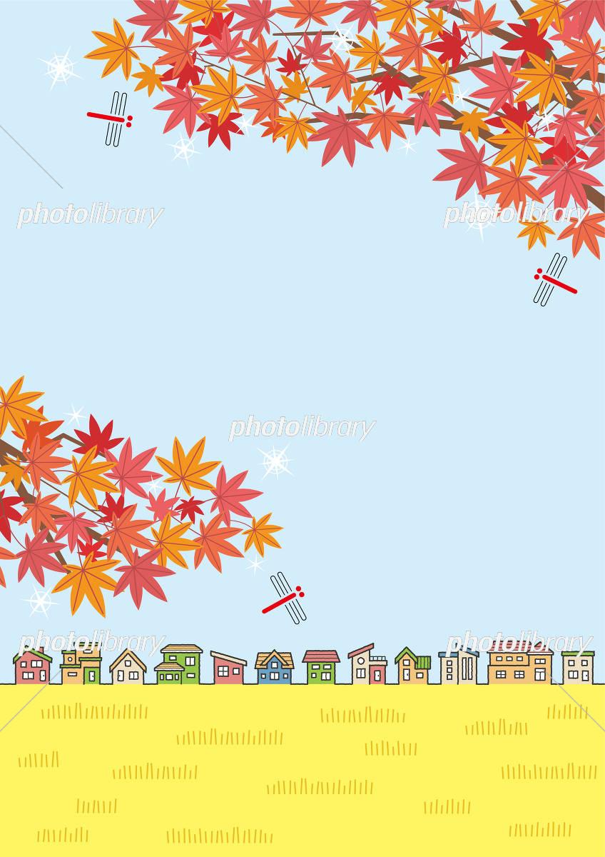 秋の風景壁紙 イラスト素材 6078835 フォトライブラリー