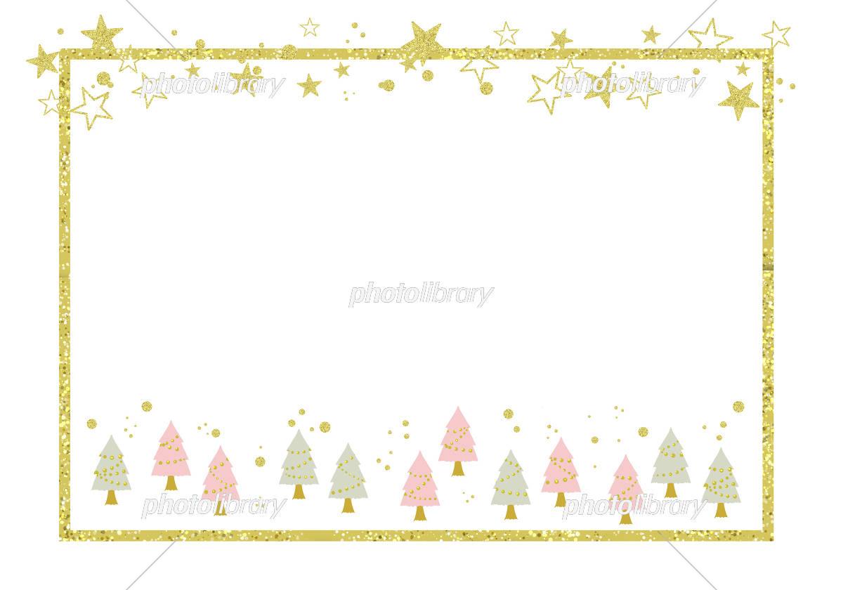 冬フレーム グリッダー風クリスマスツリー イラスト素材 フォトライブラリー Photolibrary