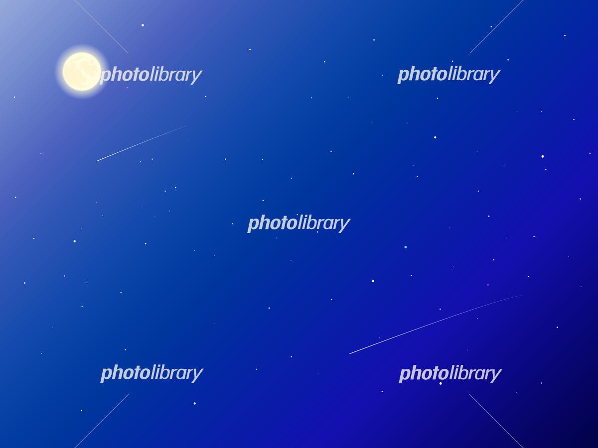 綺麗な夜空の風景イラスト イラスト素材 フォトライブラリー Photolibrary