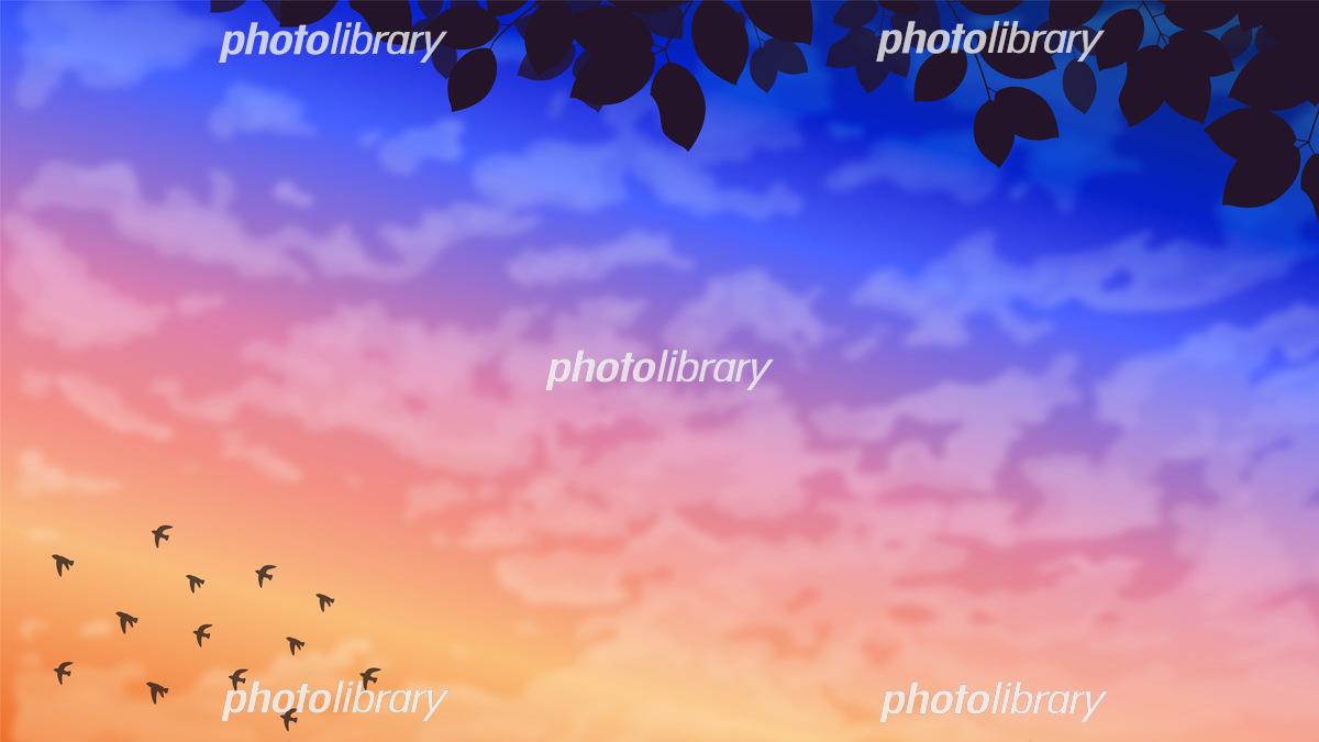綺麗な夜明けの風景イラスト イラスト素材 フォトライブラリー Photolibrary
