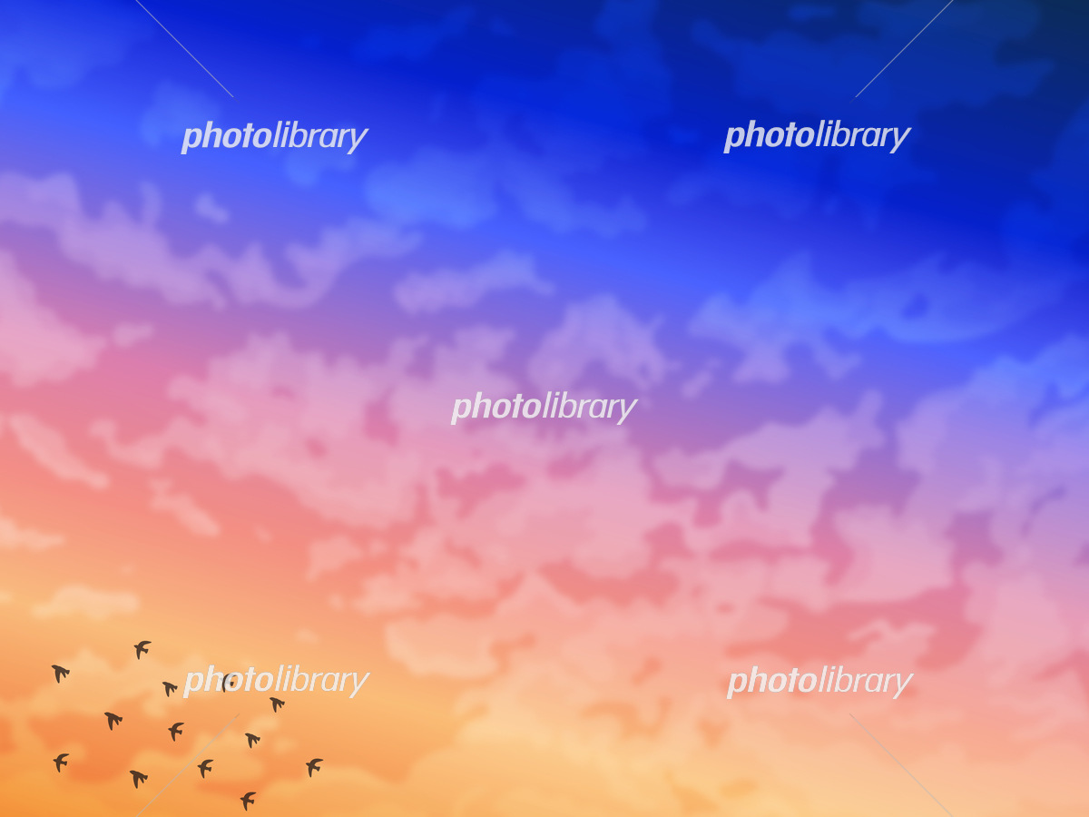 綺麗な夜明けの風景イラスト イラスト素材 6353996 フォトライブラリー Photolibrary