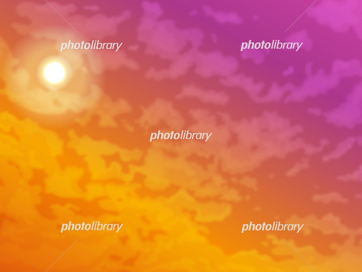 綺麗な夕焼けの風景イラスト イラスト素材 フォトライブラリー Photolibrary