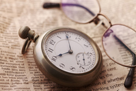 Pocket watch and glasses Stock photo [272493] Pocket