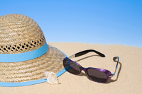 Straw hat and sunglasses Stock photo [273447] Straw