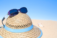 Straw hat and sunglasses Stock photo [273451] Straw