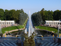 Large fountain of Peter the Great summer palace Stock photo [279170] Rainbow